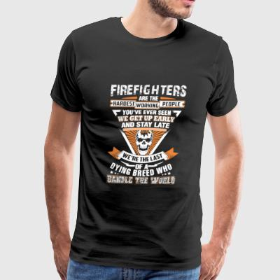 Firefighter - We're the last of a dying breed - Men's Premium T-Shirt