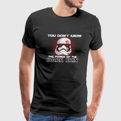 Kylo Ren You don't know the power of the Dark sk - Men's Premium T-Shirt
