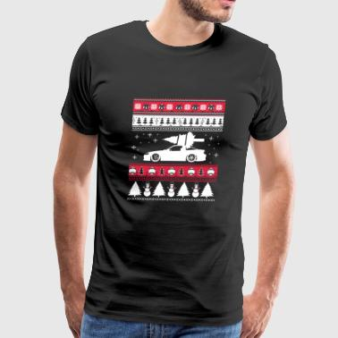 Ugly Christmas sweater for car lover - Men's Premium T-Shirt