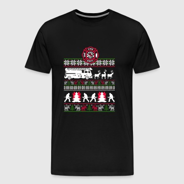Ugly Christmas sweater for firefighter - Men's Premium T-Shirt