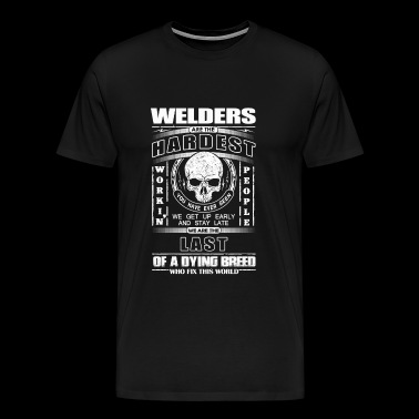 Welder Welder The last dying breed who fix t - Men's Premium T-Shirt