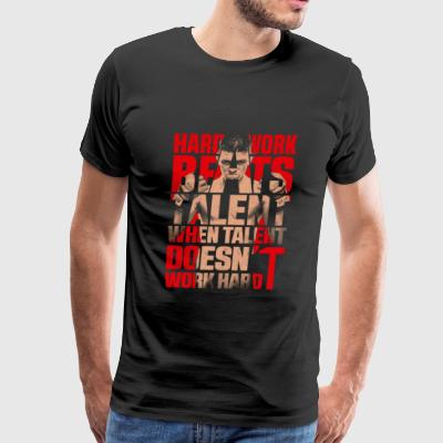Boxer - Hard work beats talent when talent doesn - Men's Premium T-Shirt