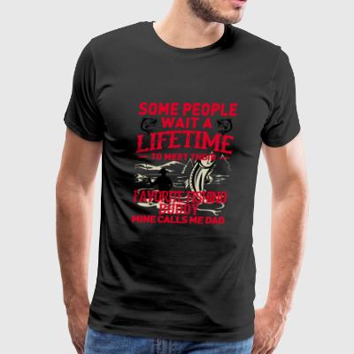 Fishing - My favorite fishing buddy calls me dad - Men's Premium T-Shirt