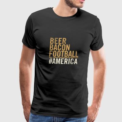 Ameria - American pride Beer bacon football - Men's Premium T-Shirt