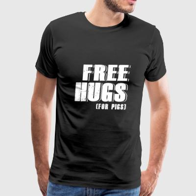 Pig - free hugs for pigs - pig - Men's Premium T-Shirt