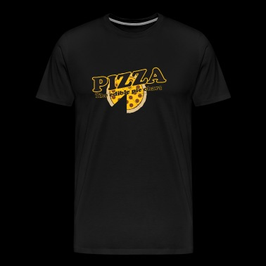 Pizza - Pizza. The Edible Pie Chart - Men's Premium T-Shirt