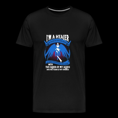 WOW - I'm a healer dictator of life and death te - Men's Premium T-Shirt