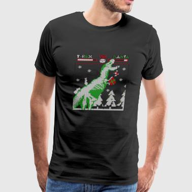T-Rex vs Santa - Christmas sweater - Men's Premium T-Shirt