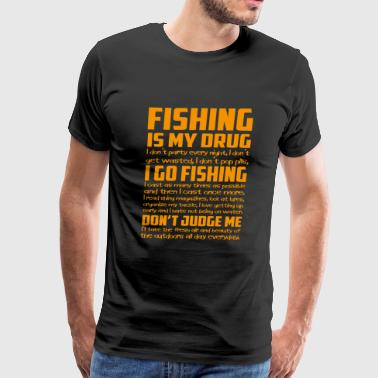 Fishing - I cast as many times as possible - Men's Premium T-Shirt