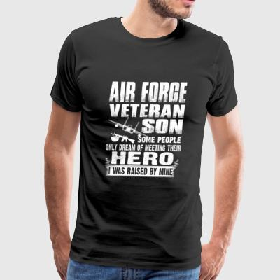 Air force veteran son - I was raised by my hero - Men's Premium T-Shirt