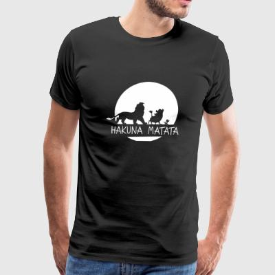 The lion king cartoon - Hakuna Matata - Men's Premium T-Shirt