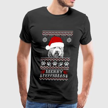 Ugly Christmas sweater for Labradoodle lover - Men's Premium T-Shirt