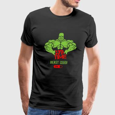 Gym Gym time Beast mode on - Men's Premium T-Shirt