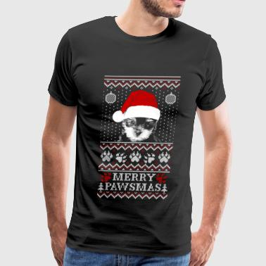 Ugly Christmas sweater for Yorkie lover - Men's Premium T-Shirt