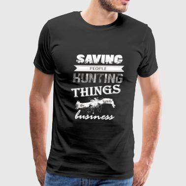 Supernatural - Saving people and hunting things - Men's Premium T-Shirt