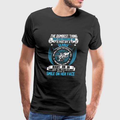 Seabee - He will do it with a smile on her face - Men's Premium T-Shirt