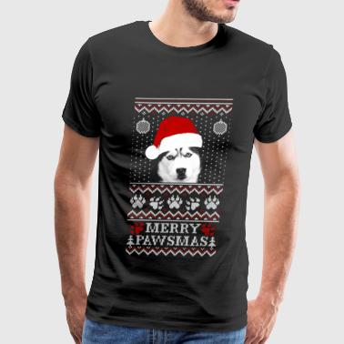 Husky - Husky - husky lover marry christmas swea - Men's Premium T-Shirt