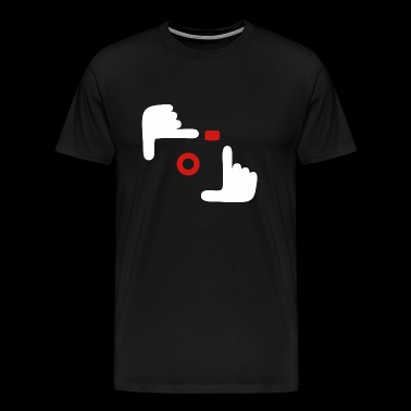 Photographer - Two hand camera - Men's Premium T-Shirt