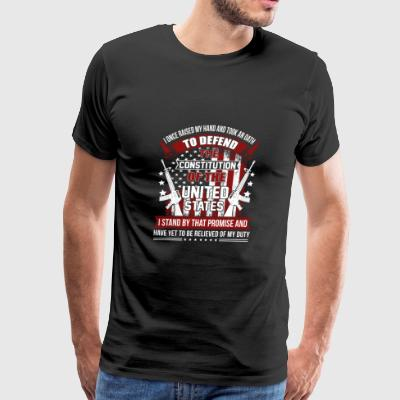 Veteran - I once raised my hand and took an oath - Men's Premium T-Shirt