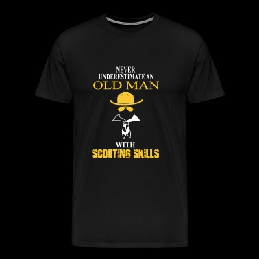 Scouting - Scouting - never underestimate an old - Men's Premium T-Shirt