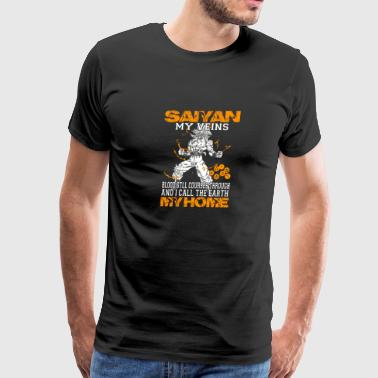 Saiyan - Blood still courses through awesome tee - Men's Premium T-Shirt