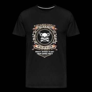 Mechanic - I'm the last of a dying breed of peop - Men's Premium T-Shirt