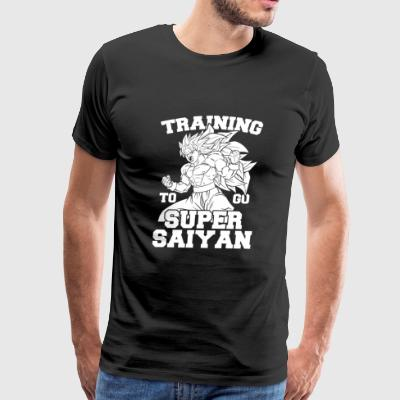 Dragon Ball Lifting - Training to go super Saiya - Men's Premium T-Shirt