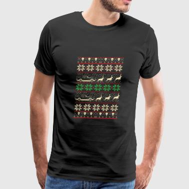 Dodge - Ugly Christmas Sweater - Men's Premium T-Shirt