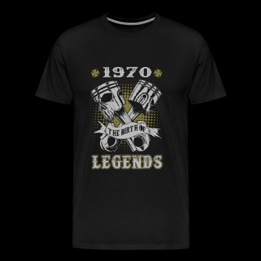 1970 - 1970 the birth of legends awesome t-shirt - Men's Premium T-Shirt