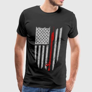 Spearfishing - spear fishing flag t-shirt - Men's Premium T-Shirt