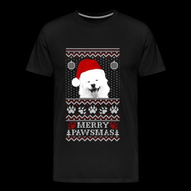 Ugly Christmas sweater for Samoyed lover - Men's Premium T-Shirt