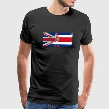 British Costa Rican Half Costa Rica Half UK Flag - Men's Premium T-Shirt