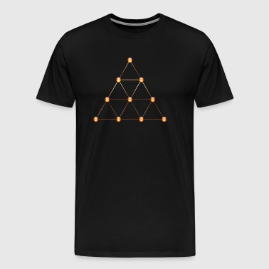Tetraktys, Pythagoras, Geometry, Mathematics - Men's Premium T-Shirt