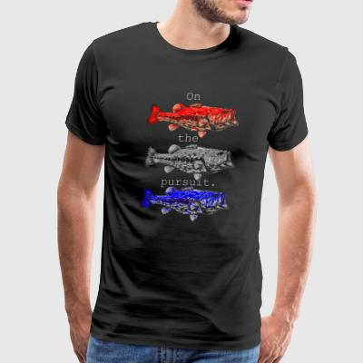 On the pursuit. Red white blue - Men's Premium T-Shirt