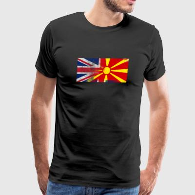 British Macedonian Half Macedonia Half UK Flag - Men's Premium T-Shirt