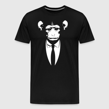 Monkey in a suit with banana - Men's Premium T-Shirt
