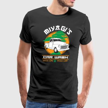 Miyagi's Car Wash Wax On Wax Off - Men's Premium T-Shirt