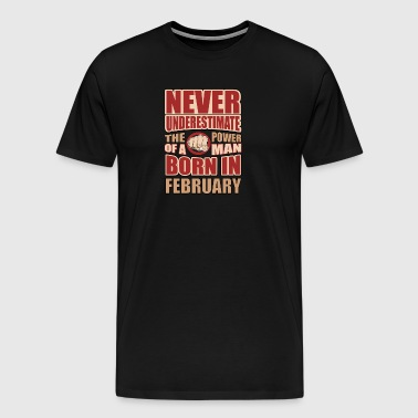 The Power of a Man Born in February - Men's Premium T-Shirt