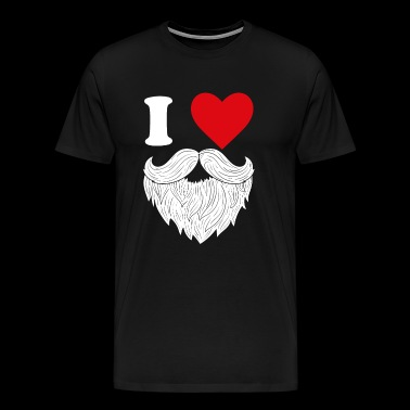 I love beard - Men's Premium T-Shirt