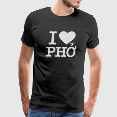 i love pho - Men's Premium T-Shirt