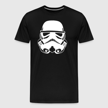Stormtrooper Helmet Design - Men's Premium T-Shirt