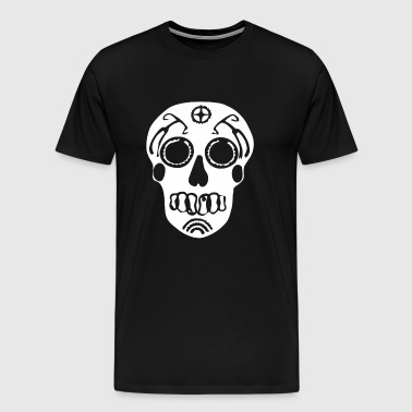 Sugar Skull Bike Parts art - Men's Premium T-Shirt