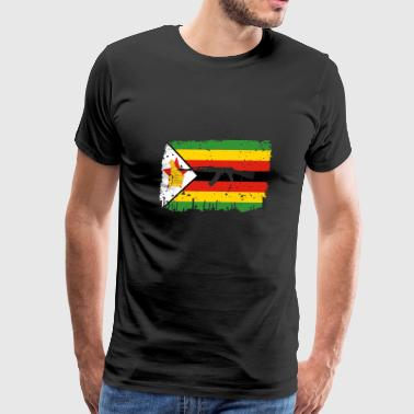 homeland fight ak 47 heimat roots Simbabwe png - Men's Premium T-Shirt