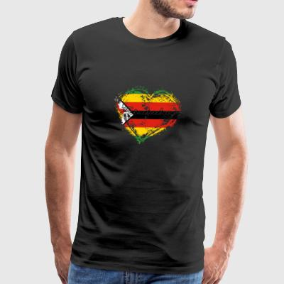 HOME ROOTS COUNTRY GIFT LOVE Zimbabwe - Men's Premium T-Shirt