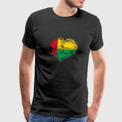 HOME ROOTS COUNTRY GIFT LOVE Guinea Bissau - Men's Premium T-Shirt