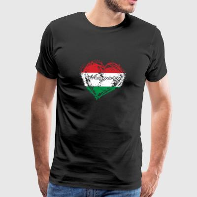 HOME ROOTS COUNTRY GIFT LOVE Hungary - Men's Premium T-Shirt