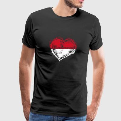 HOME ROOTS COUNTRY GIFT LOVE Indonesia - Men's Premium T-Shirt