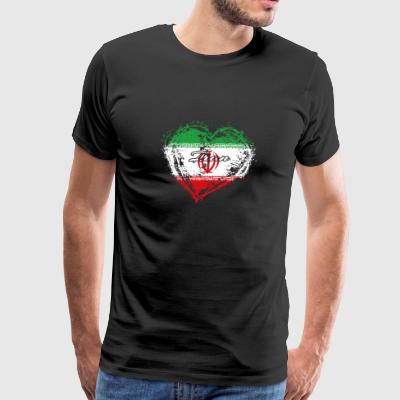HOME ROOTS COUNTRY GIFT LOVE Iran - Men's Premium T-Shirt