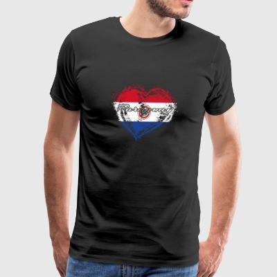 HOME ROOTS COUNTRY GIFT LOVE Paraguay - Men's Premium T-Shirt