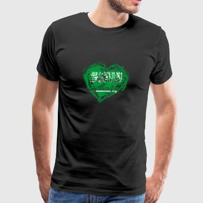 HOME ROOTS COUNTRY GIFT LOVE Saudi Arabia - Men's Premium T-Shirt